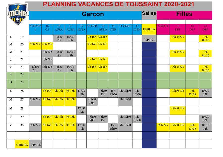 Planning Toussaint